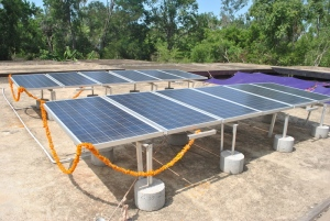 Commisisoning of grid-connected Solar PV  Auroville, Tamil Nadu